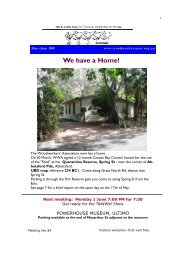 Newsletter May - June 09 - Woodworkers Association of NSW