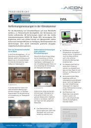 Verformungsmessungen in der Klimakammer - AICON 3D Systems