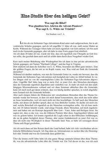 Fred Allaback : Was ist der Heilige Geist - Sabbat