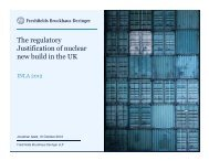 The regulatory Justification of nuclear new build in ... - Burges Salmon