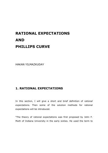 adaptive expectations and rational expectations Adaptive expectations hypothesis in economics it points out why the rational  expectations hypothesis was embraced by the economics profession without.