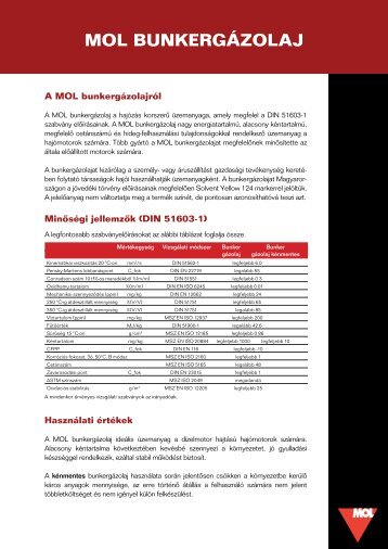 Bunkergázolaj terméklap (pdf, 174 kB) - Mol