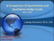A Comparison of Quantitative and Qualitative Hedge Funds, ISCTE ...