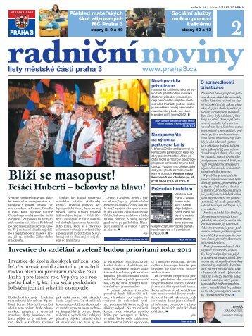 Radniční noviny - únor 2012 - Praha 3