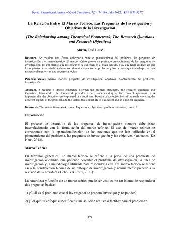 13. La Relación Entre El Marco Teórico, Las ... - Spentamexico.org
