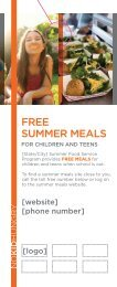 FREE SUMMER MEALS - No Kid Hungry