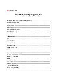 Innholdsfortegnelse, Kjølberggata 31, Oslo - Storebrand
