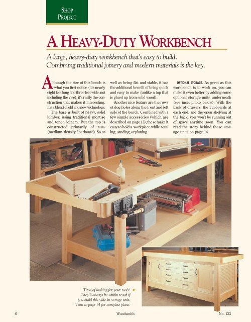 Stupendous A Heavy Duty Workbench Woodsmith Woodworking Seminars Ocoug Best Dining Table And Chair Ideas Images Ocougorg