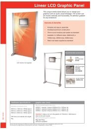 Linear LCD Graphic Panel - Redcliffe
