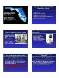 Capacity Analysis Reports for Public Water Systems Capacity ...