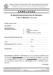 Anmeldeformular - Wasserland Steiermark