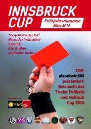 planetwin 365 Innsbruck Cup Magazin Frühjahr 2015
