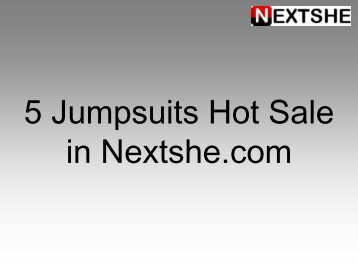 5 Jumpsuits Hot Sale in Nextshe.com