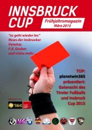 Innsbruck Cup Magazin Frühjahr 2015