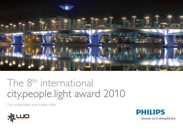 The 8th international city.people.light award 2010 - Philips