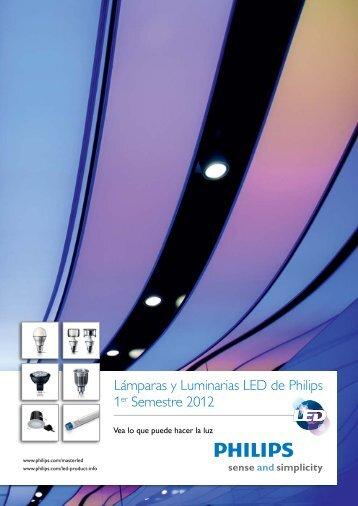 Lámparas y Luminarias LED de Philips 1er Semestre 2012