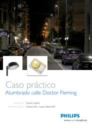 Caso Práctico de Calle Dr.Fleming - Philips Lighting