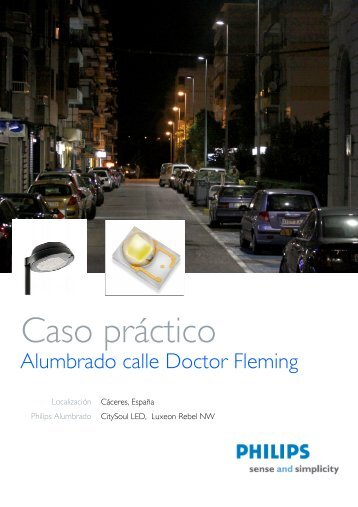 Caso Práctico de Calle Dr.Fleming - Philips Lighting