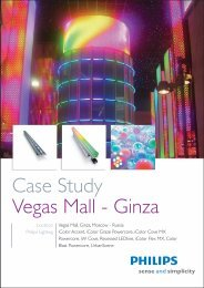 Case Study Vegas Mall - Ginza - Philips Lighting