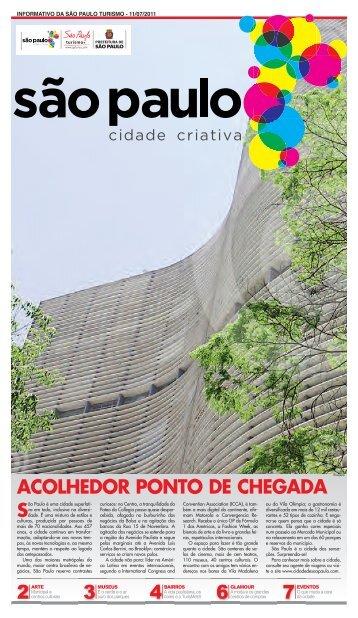 acolhedor ponto de chegada - Comunicação - São Paulo Turismo