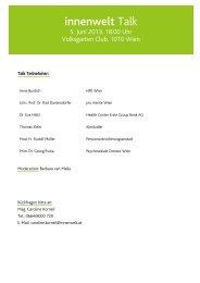 Pressematerialien zum innenwelt Talk & Sommerfest 05.06.2013