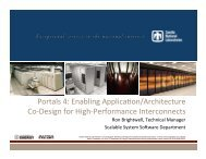 Portals 4: Enabling Applica3on/Architecture Co ... - Hot Interconnects