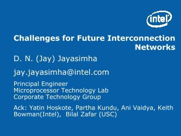 Challenges for Future Interconnection Networks ... - Hot Interconnects