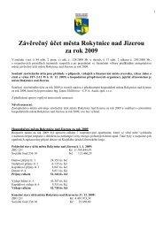 Závěrečný účet města Rokytnice nad Jizerou za rok 2009