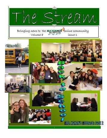 Issue 1 - Ma'ayanot Yeshiva High School for Girls