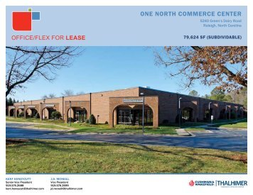 ONE NORTH COMMERCE CENTER - REApplications