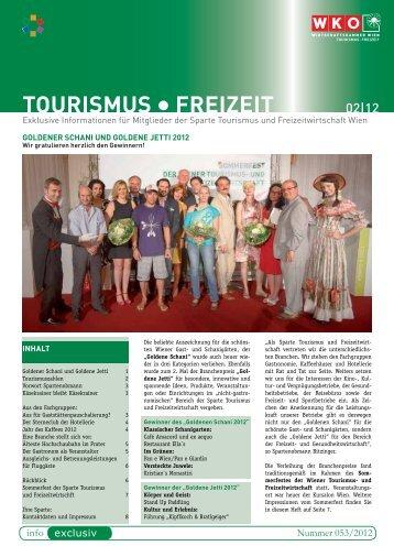 TOURISmUS FREIzEIT - e-reader.wko.at - Wirtschaftskammer Wien