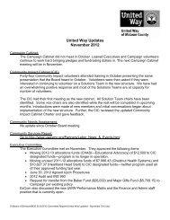 United Way Updates November 2012