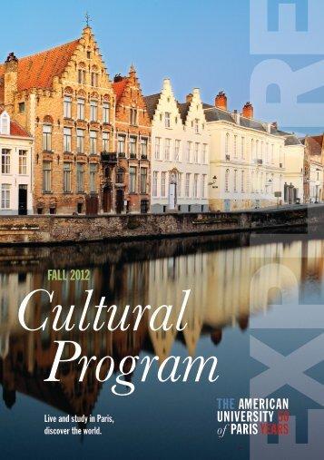 Cultural Program - The American University of Paris