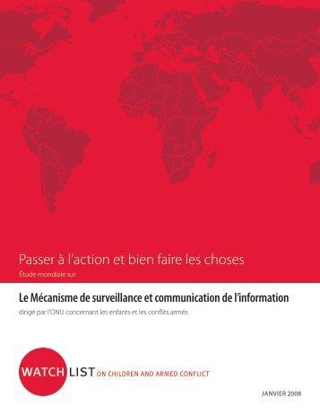 Étude mondiale sur le Mécanisme de surveillance et ... - Watchlist