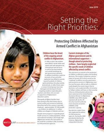 Afghanistan Summary 2010.pdf - Watchlist