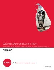 Implementing the MRM in Sri Lanka - Watchlist