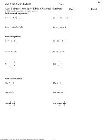 Printables Multiplying Rational Numbers Worksheet worksheet 24 section 4 2 multiplying and dividing rational add subtract multiply divide numbers review