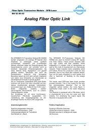 Analog Fiber Optic Link - SPINNER GmbH