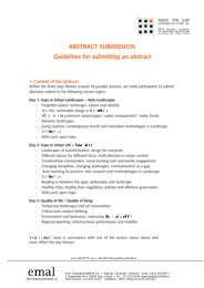 View Guidelines for Abstract Submission