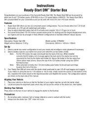 Instructions Ready-Start DM™ Starter Box - Horizon Hobby