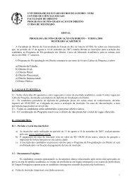 a) Direito da Cidade; b) Direito Civil; c) Direito ... - Cepeduerj.org.br