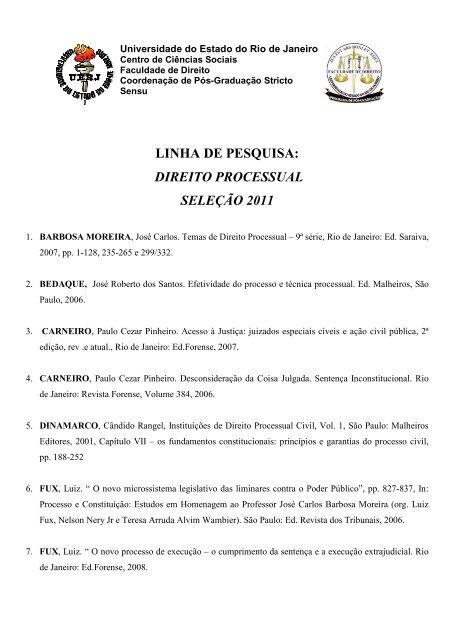 Bibliografia Processual - Cepeduerj org br