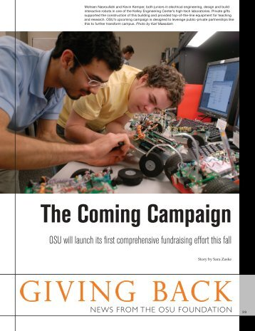 giving back: the coming campaign - OSU Alumni Association