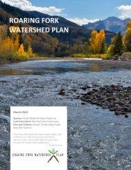 Roaring Fork Watershed Plan - April 12, 2012