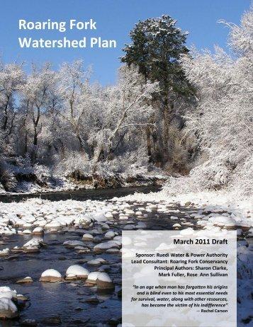 Roaring Fork Watershed Plan March 2011 Draft