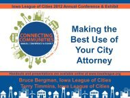 Making the Best Use of Your City Attorney - Iowa League of Cities