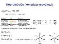 Koordinációs (komplex) vegyületek