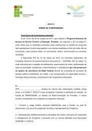 TERMO DE COMPROMISSO Anexo III - Instituto Federal Farroupilha