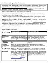 Honors Internship Course Application