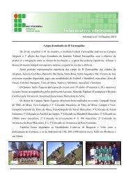 Boletim Informativo - Outubro/2010 - Instituto Federal Farroupilha